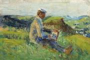 Kandinsky-beim-Landschaftsmalen-von-Gabriele-Münter