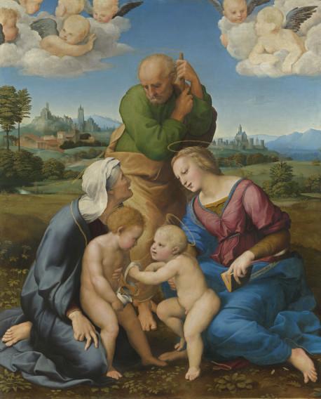 Raffael-Die-Heilige-Familie-Canigiani-bis-November-2020-Alte-Pinakotek